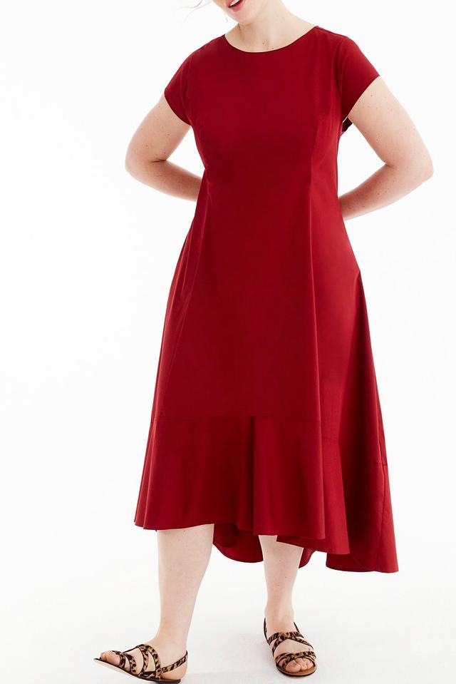For J.crew Stretch Poplin Dress