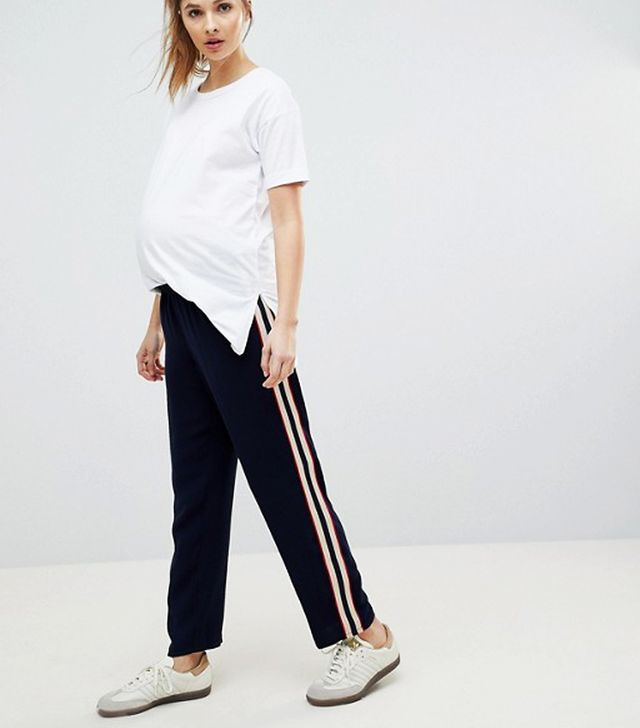 ASOS Maternity Tailored Jogger with Side Stripe Panel