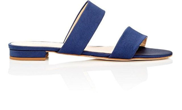Women's Satin Double-Band Slide Sandals
