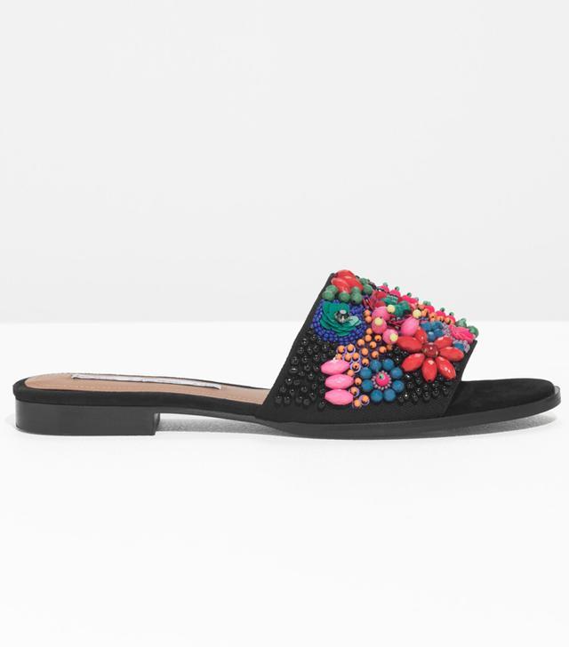 & Other Stories Embellished Slip-On Sandals