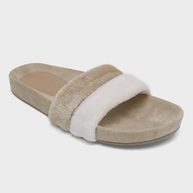 Frances Terry Cloth Pool Slide Sandals
