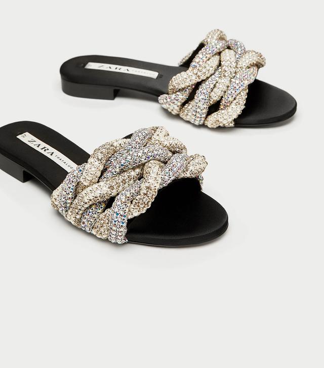 Zara Gem Encrusted Slides