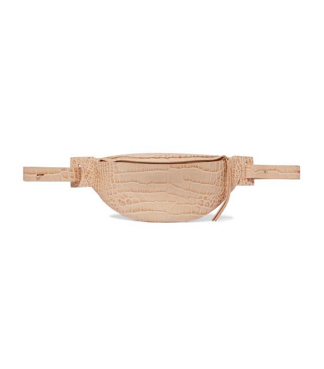Lubo Croc-Effect Leather Belt Bag