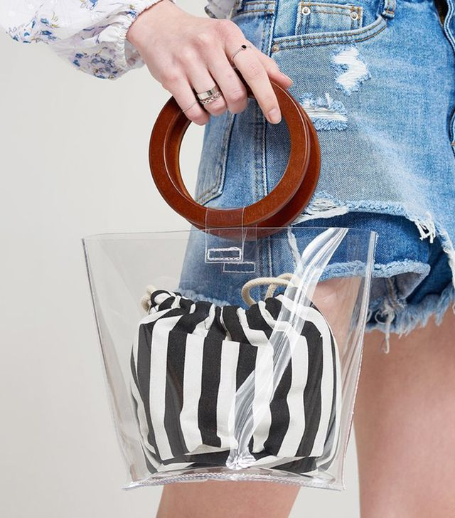 Storets Clear Layer Stripe Pouch