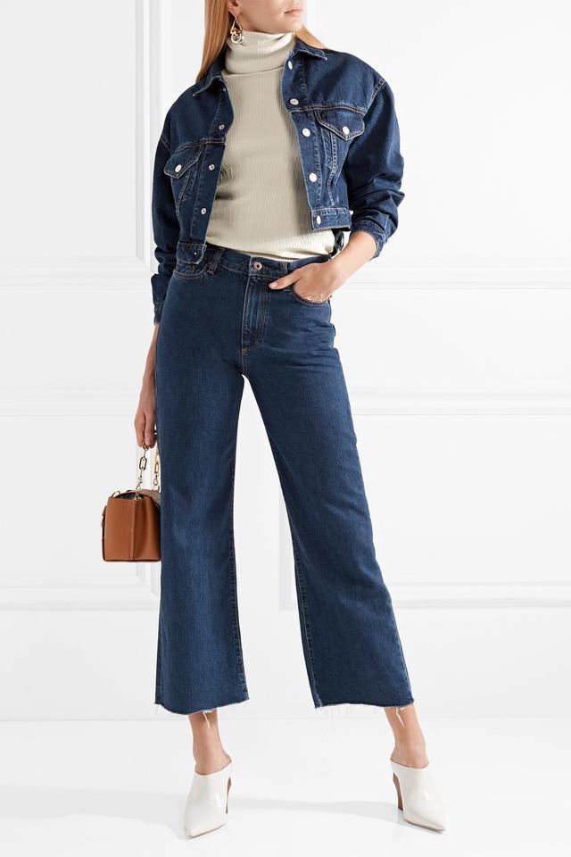 W006 Toluca Cropped High-rise Wide-leg Jeans