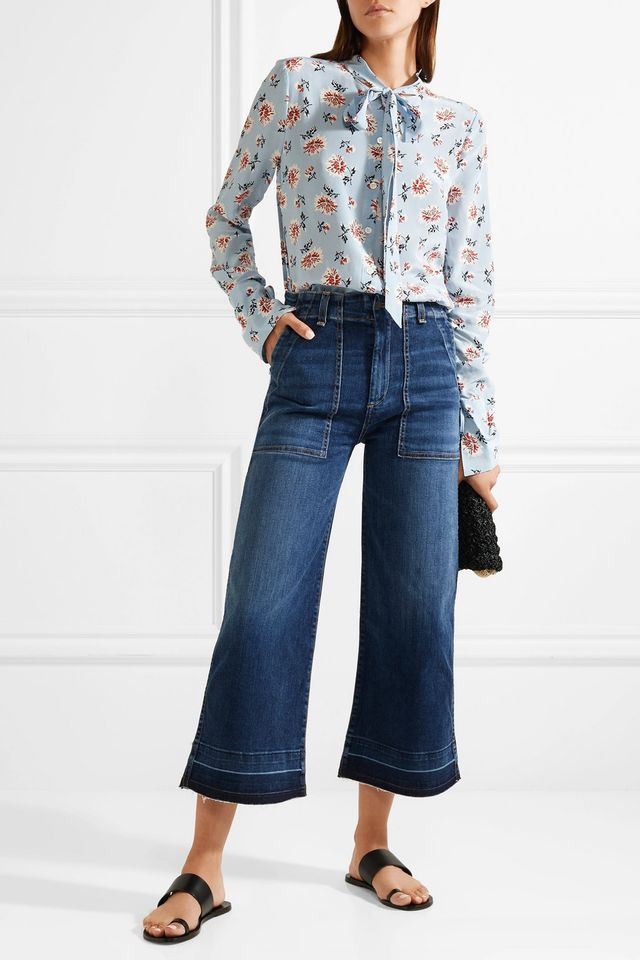 Lou Cropped High-rise Wide-leg Jeans