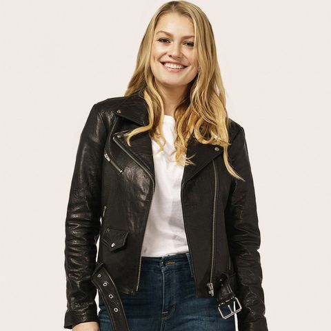 Jayne Biker Leather Jacket