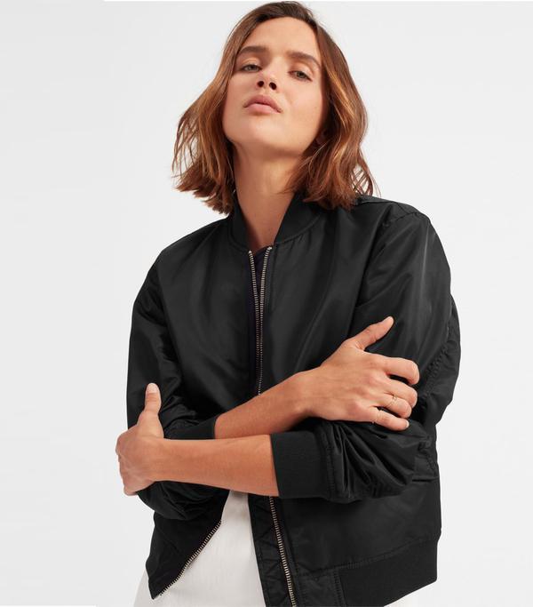 Women's Bomber Jacket by Everlane in Black, Size XXS