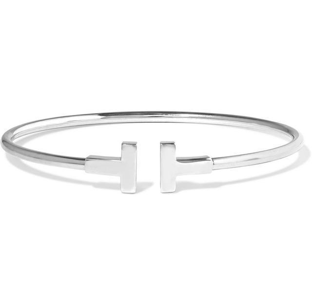 Tiffany & Co. T Wire 18-Karat White Gold Bracelet