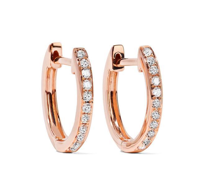 Huggies 18-karat Rose Gold Diamond Earrings