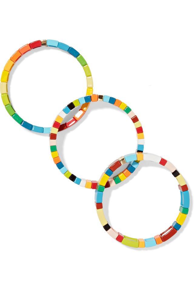Rainbow Brite Set Of Three Enamel Bracelets