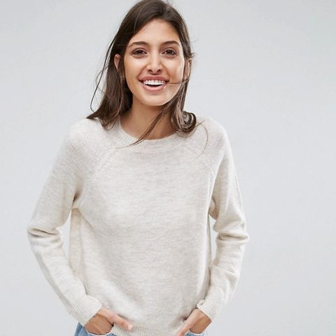 Sweater in Fully Yarn With Crew Neck