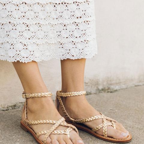 Amalfi Braided Metallic Sandal