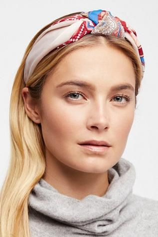 Scarf Print Headband by Free People