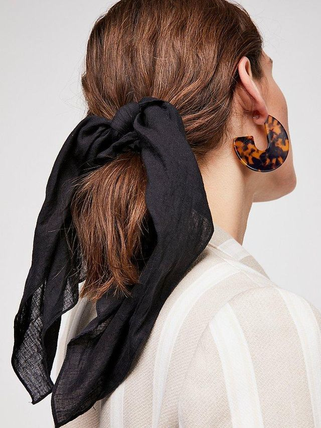 Solid Bandana Scarf Pony by Free People