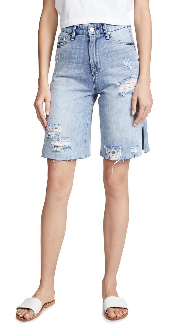 High Rise Bermuda Shorts