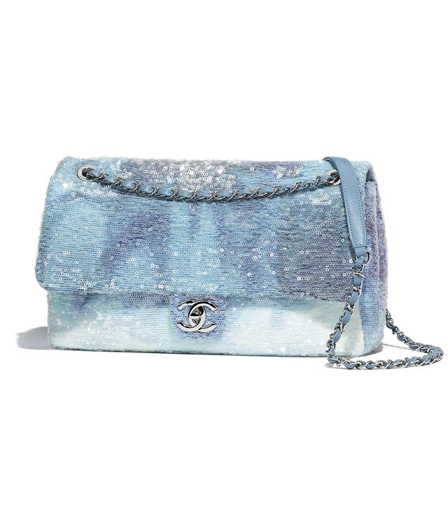Chanel Flap Bag in Sequins & Silver-Tone Metal