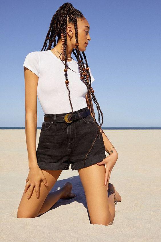 Black Jean Shorts Denim Capsule Wardrobe