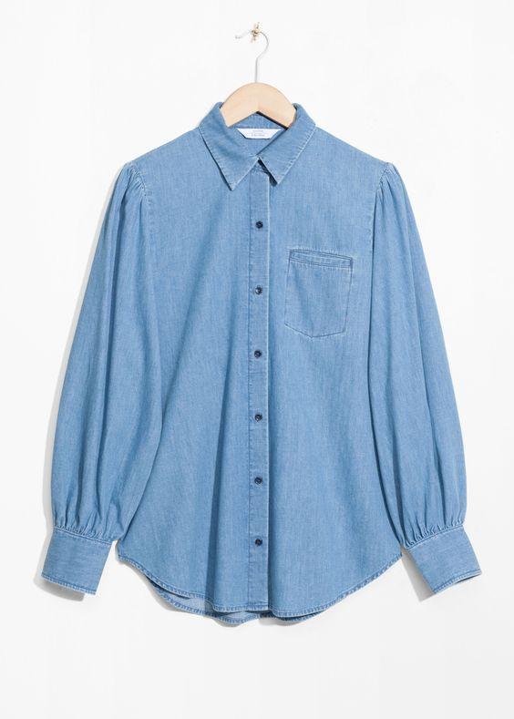 Long Sleeve Shirt Denim Capsule Wardrobe