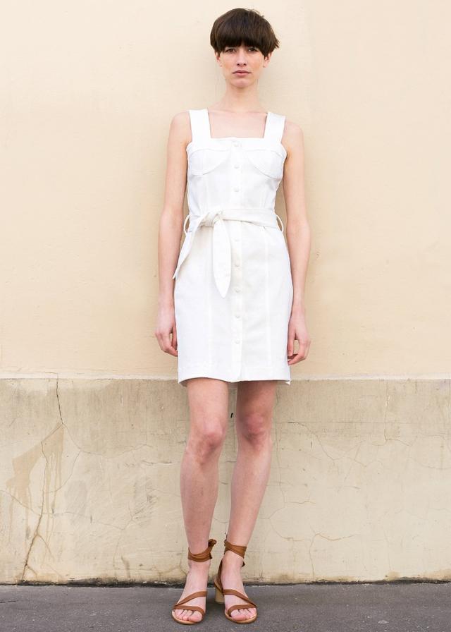 White Mini Dress Denim Capsule Collection