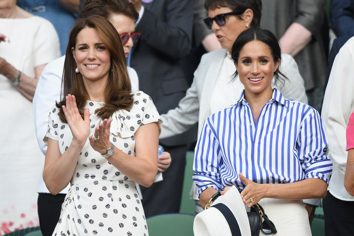 Meghan Markle and Kate Middleton Attend Wimbledon 2018