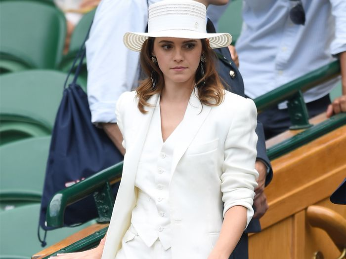 A Very Rare Sighting of Emma Watson Wearing the Coolest Suit