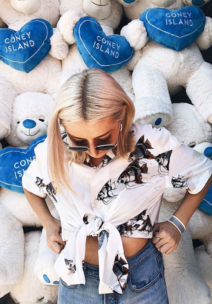 Influencers wearing Zara: Fish shirt