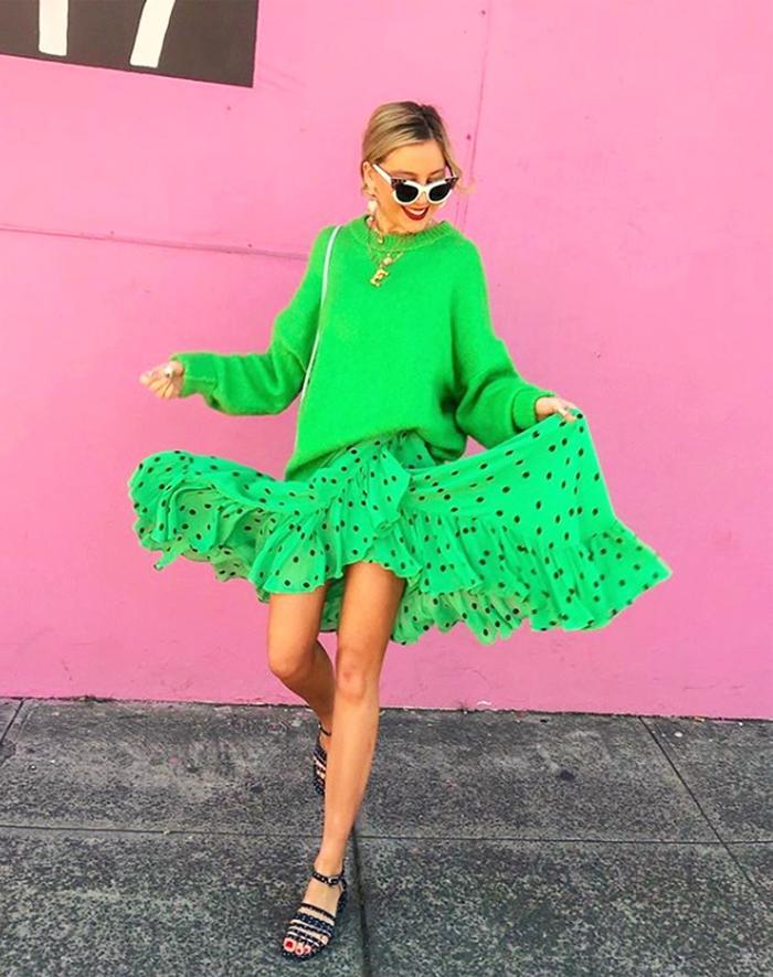 Best midi 2018: Ganni green spot skirt
