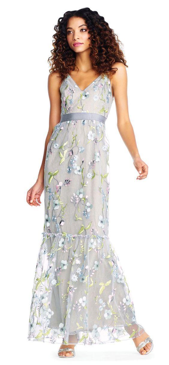 best mermaid floral wedding dresses