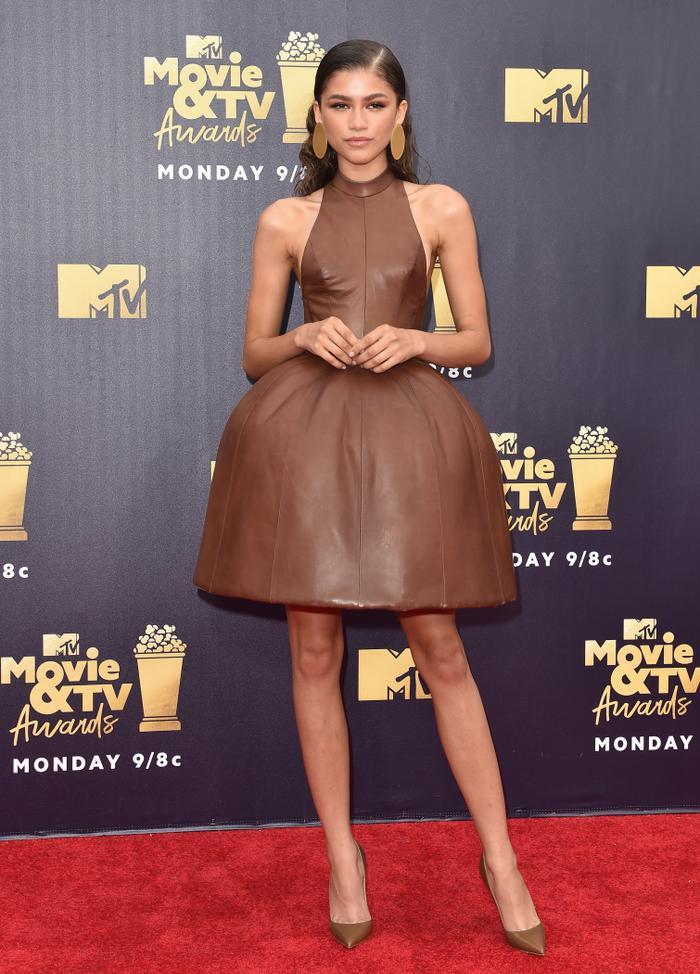 best leather dress Zendaya outfits