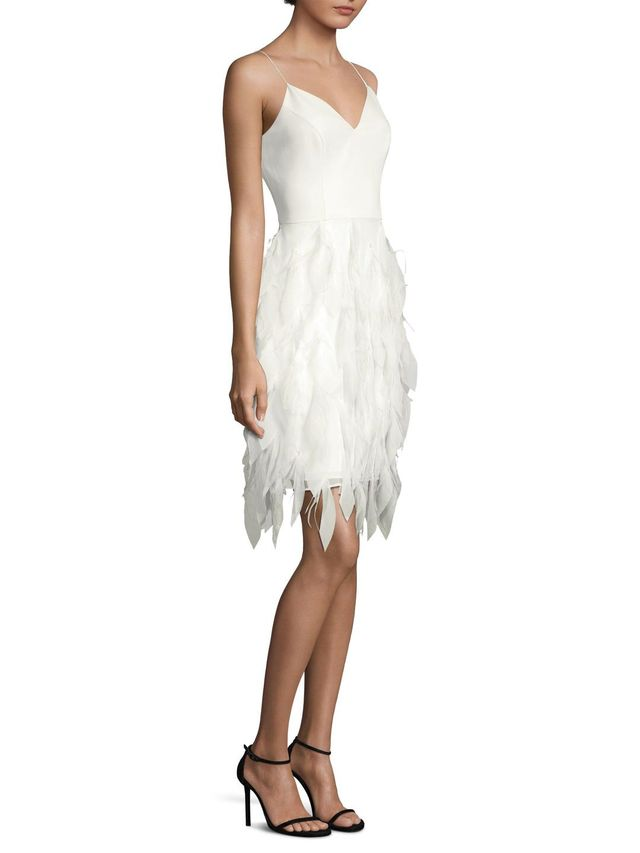 Feather Texture Sheath Dress