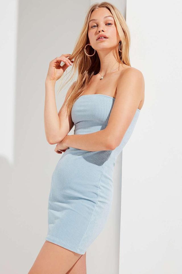 UO Corduroy Tube Mini Dress