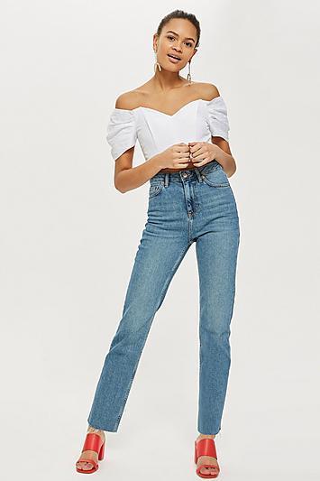 MOTO Authentic Straight Leg Jeans