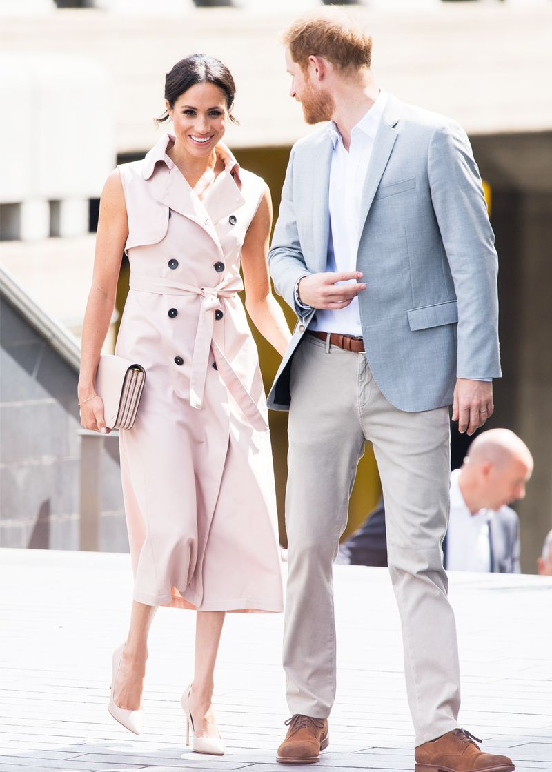 meghan markle sleeveless trench dress 263192 1531828254607 image.800x0uc - Meghan Markle Simply Had One other Middleton Second In Kate's Go-to Outfit System