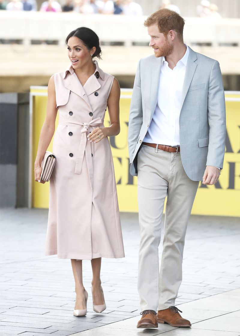 meghan markle sleeveless trench dress 263192 1531828519523 image.800x0uc - Meghan Markle Simply Had One other Middleton Second In Kate's Go-to Outfit System
