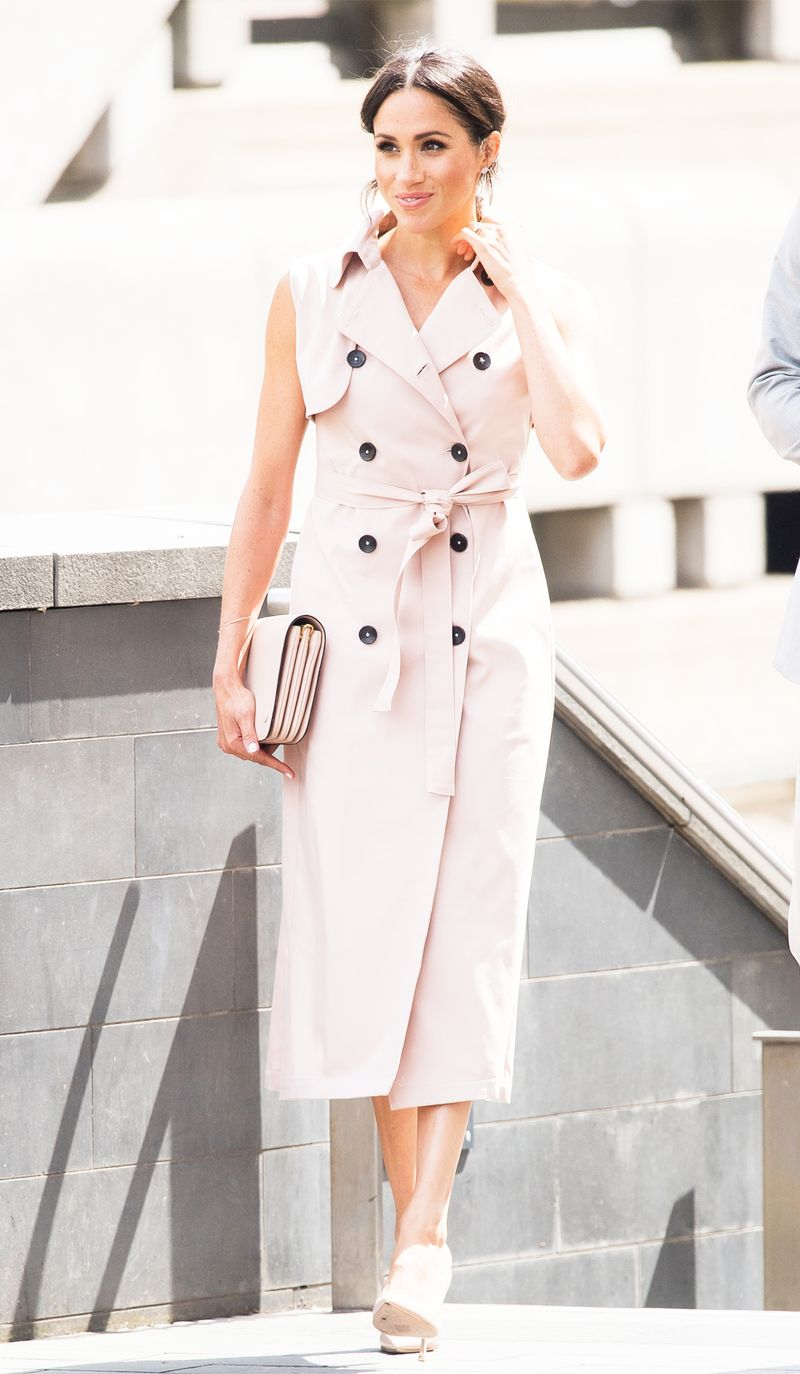 meghan markle sleeveless trench dress 263192 1531828637419 image.800x0uc - Meghan Markle Simply Had One other Middleton Second In Kate's Go-to Outfit System