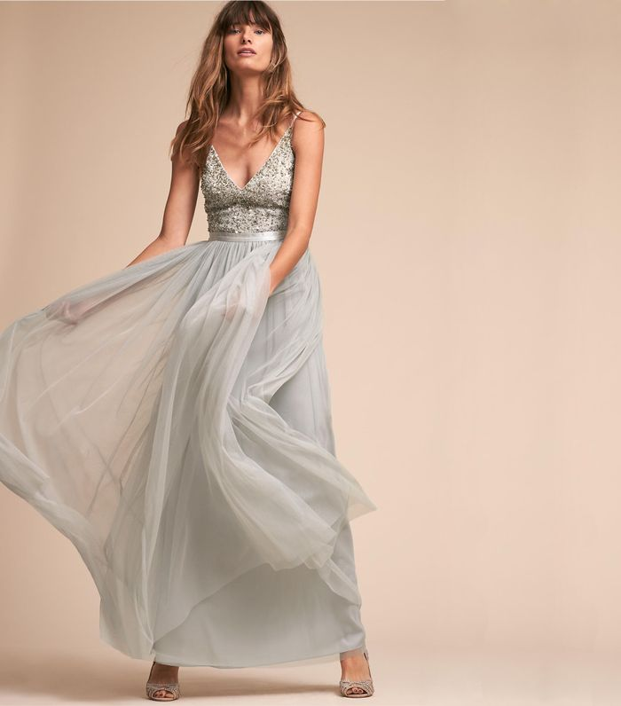 20 Beautiful Silver Wedding Dresses Who What Wear
