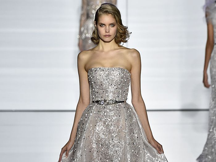 silver wedding dresses social
