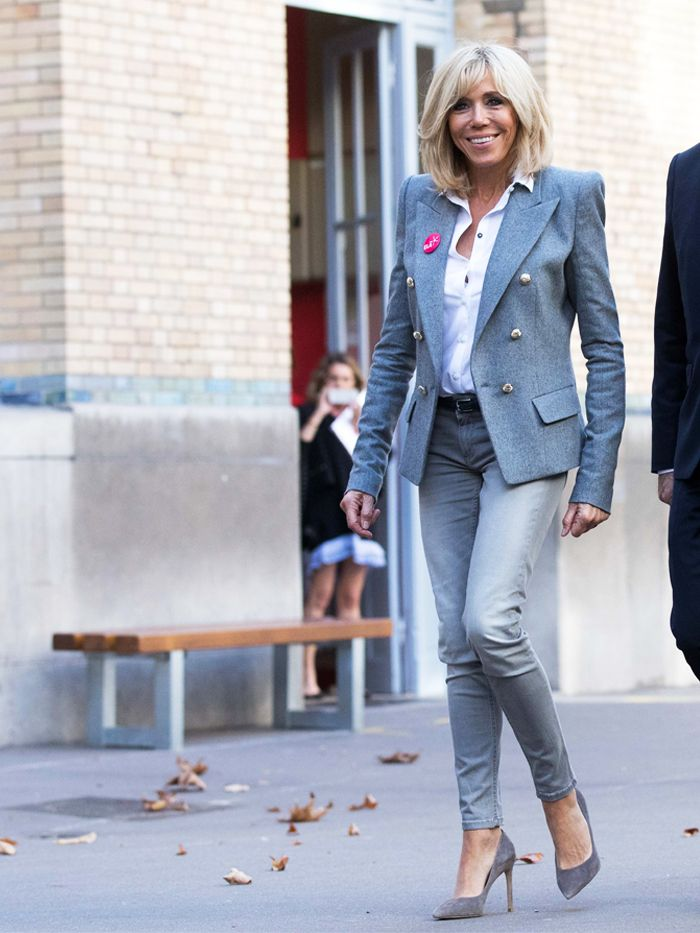 Brigitte Macron S Style Is Perfectly French Who What Wear Uk