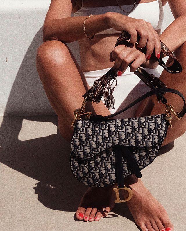 Dior saddle bag style