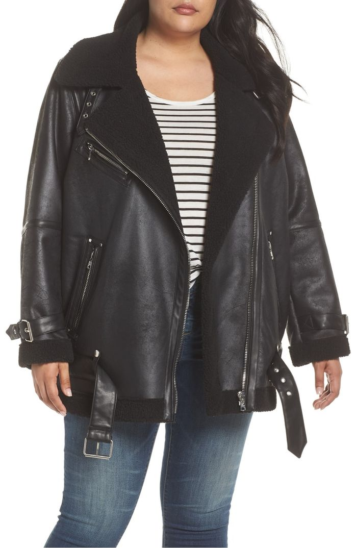 Cute Plus Size Leather Jacket Styles