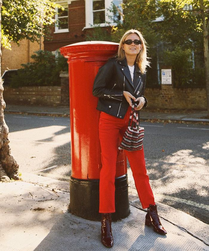Casual Date Outfits: Lucy Williams dresses down a pair of statement strides.