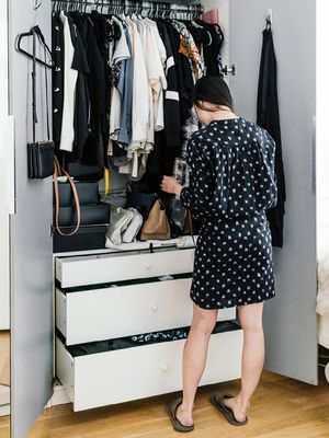 """I Tried Marie Kondo's New """"Hikidashi"""" Boxes, and They Made Organizing 10x Easier"""
