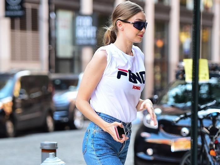 Gigi Hadid wearing Fendi