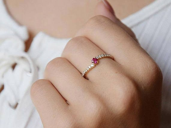stunning ruby engagement rings