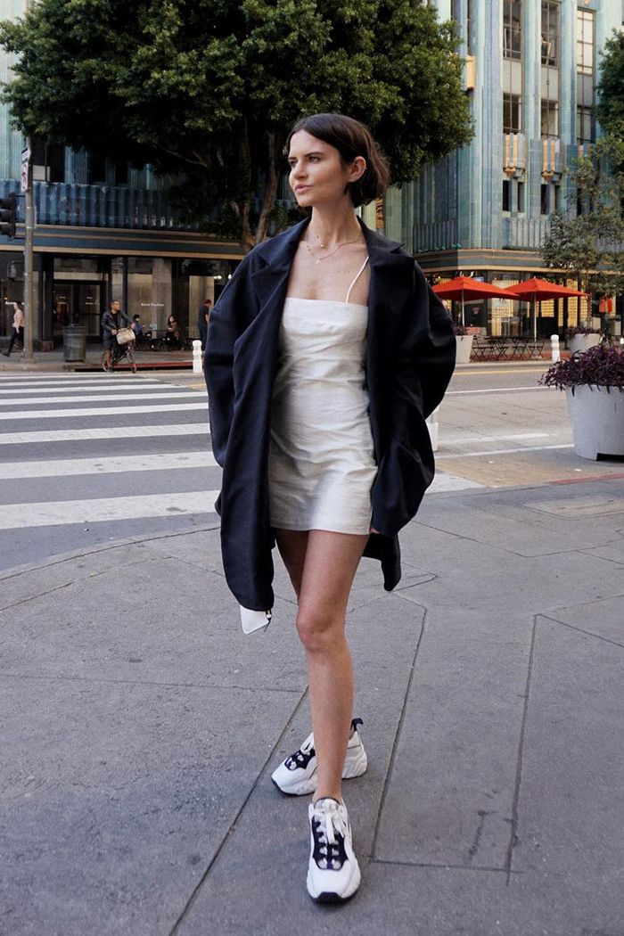 white platform sneakers outfit