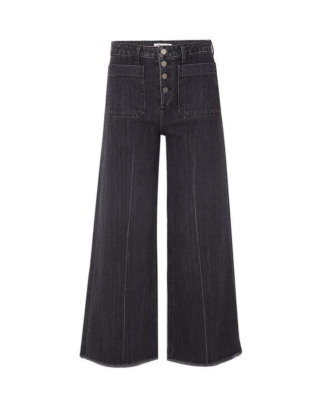 Carmine Frayed High-rise Wide-leg Jeans