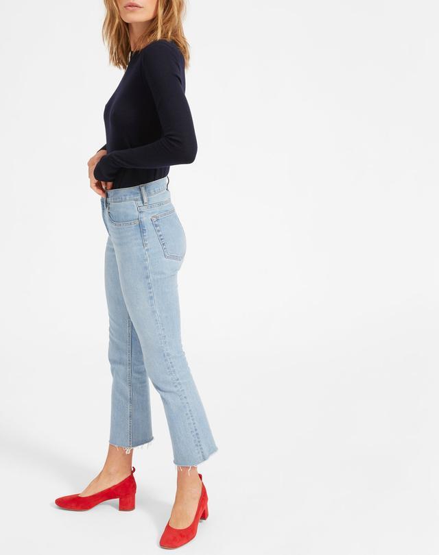 Women's High Rise Skinny Crop Raw Hem Jean by Everlane in Dark Blue Wash, Size 33