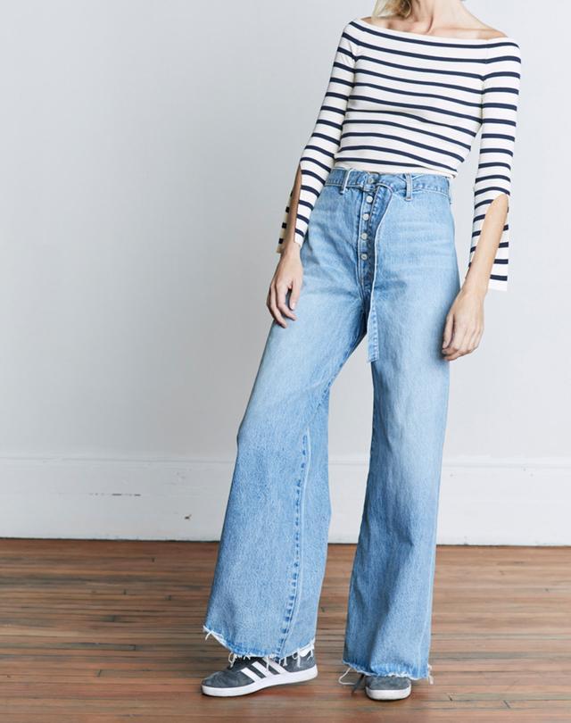 Boyish Jeans Charley Roman Holiday Wide Leg Jeans