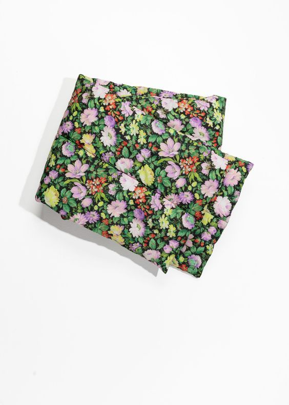 Pretty Floral Padded Fall Scarves